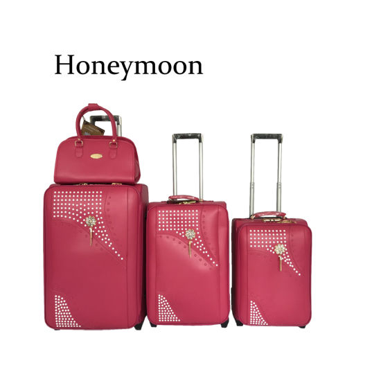 4PC Set PU Leather Trolley Bags Luggage Case (JB4006) pictures & photos