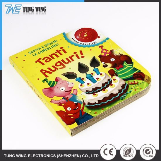 Customized Kids Educational Toys Musical Books with Remote Control