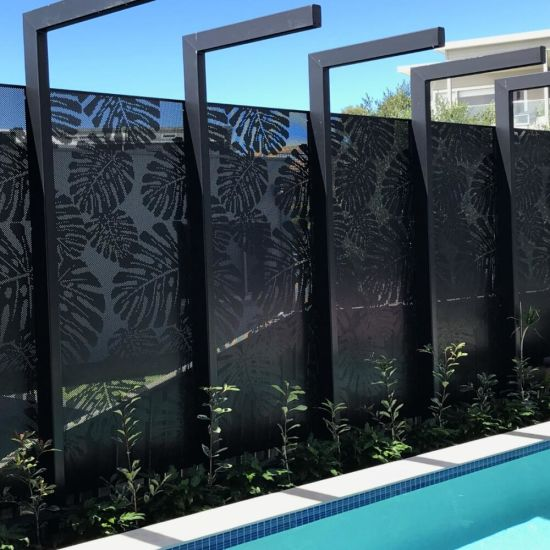 Laser Cut Gold Hairline Stainless Steel Carved Privacy Screen Panel