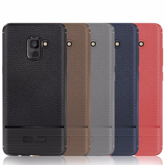 online store 352c0 87df0 China Mobile Phone Lichi Pattern Leather Silicone Case for Samsung ...