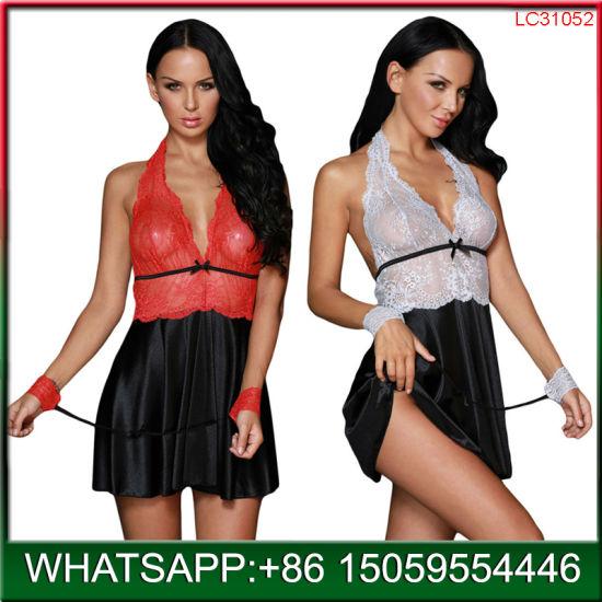 be93d987cd Hot Sale Women′s Lace Lingerie Red Dress Underwear G-Cotton Babydoll Nightwear  Sleepwear