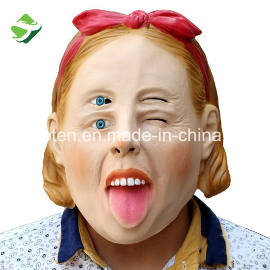 factory deluxe latex halloween mask fulldouble eyes women