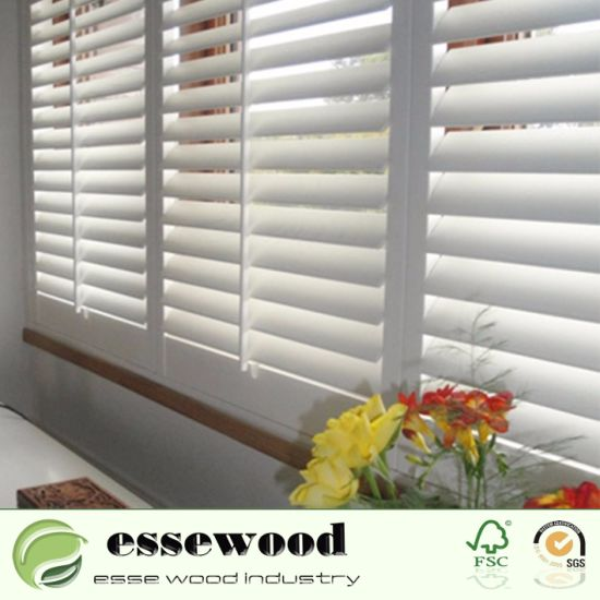 China Vinyl Wrapped White PVC Plantation Shutters for Home Indoor ...