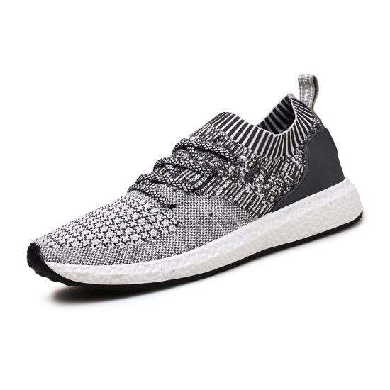 795b0982a965 China Factory Breathable Lightweight Flyknit Sneakers Shoes Men Sport  Running