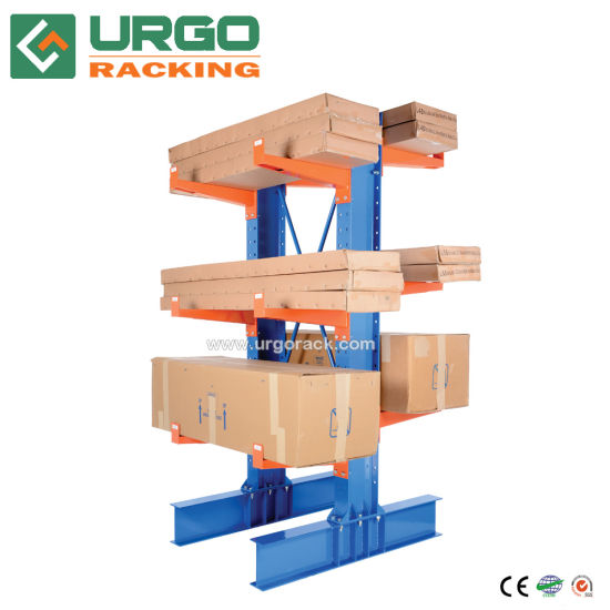 Warehouse Storage Steel High Capacity Cantilever Rack for Tube Storage