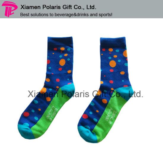 Promotional Full Color Jacquard Logo Sports Socks