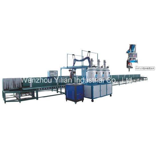 Convenyor Type PU Pouring Machine for Safety Shoes with 40/60/80 Station AC Control system