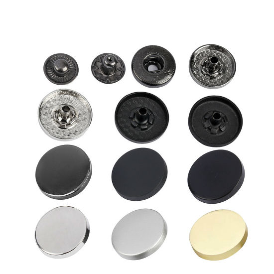Custom Four Part Golden Plated Press Color Alloy Metal Snap Button for Coats Factory Sale Directly