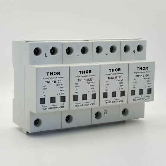 120ka Power Surge Voltage Protection SPD 3 Phase Surge Protection Device pictures & photos