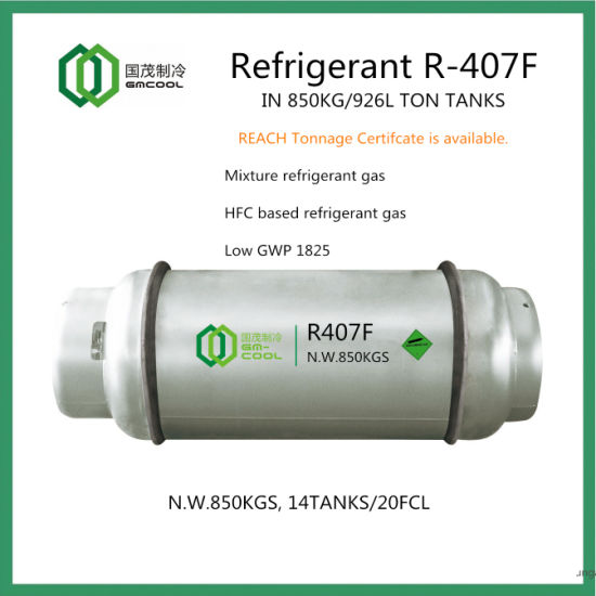 Refrigerant Gas R407f in Ton Tanks pictures & photos