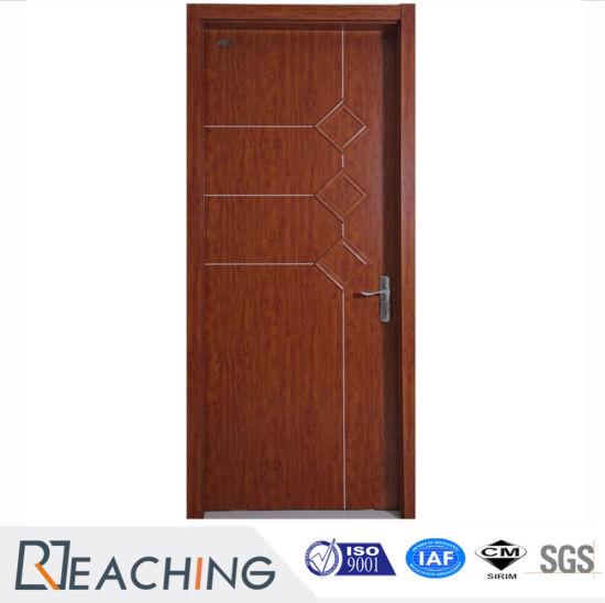 Modern Design Flush Interior Melamine Laminated Wooden Door