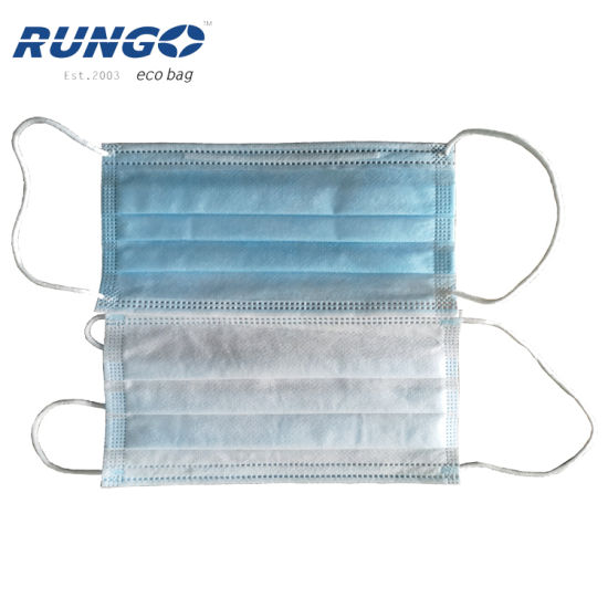 Disposable 3ply Civil Non-Woven Fabric and Melt Blown Protective Face Mask Dust Mask