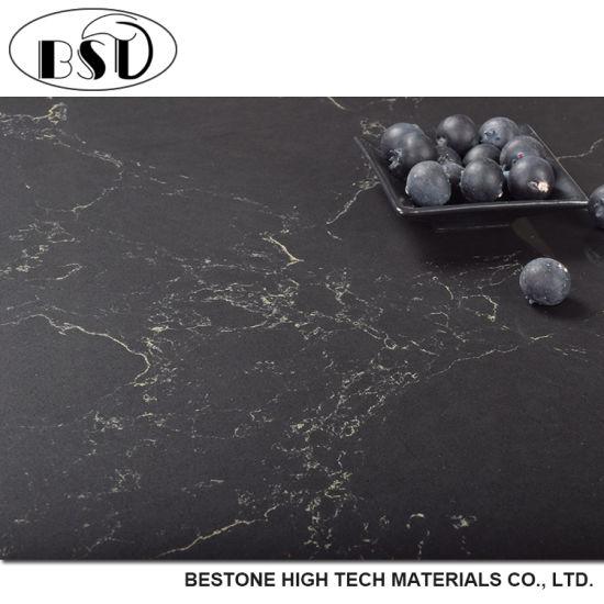 Top Level Black Marquino Wholesale Price Artificial Quartz Countertop