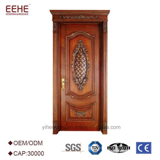 China Fashion New Style Entry Doors Wood Door Panel Door Design