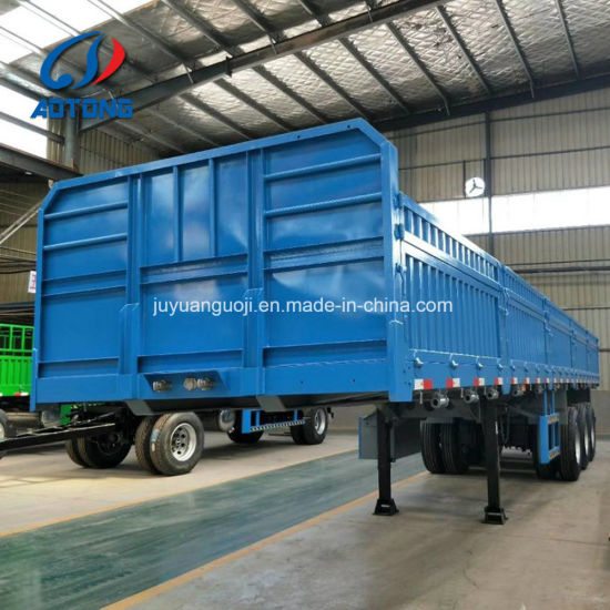 3 Axles Utility Cargo Trailer Truck for Container, Loose Cargo or Bulk Cargo Transport