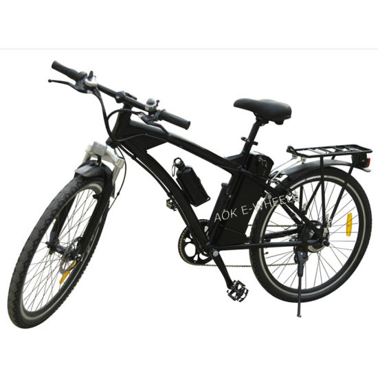 Aluminium Alloy Lithium Battery Mountain Electric Bike with Tailight (TDE-003)