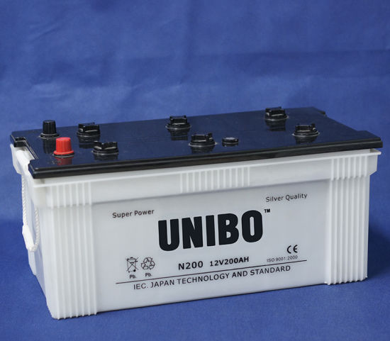 Truck Battery JIS Standard N200 12V200ah 12volt Dry Charged Lead-Acid Bus Battery pictures & photos