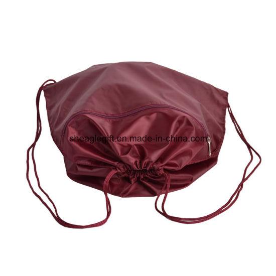 fe36f328457 China Polyester Economical Sport Drawstring Bag Cinch Pack - China ...