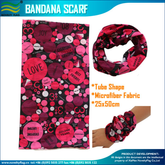 25*50cm Microfiber Polyester Bandana (J-NF20F20020) pictures & photos