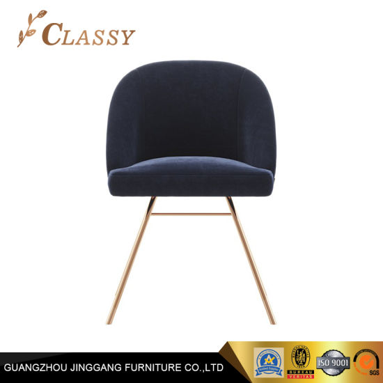 Modern Design Chair Blue Velvet Chair Home Furniture Dining Chair