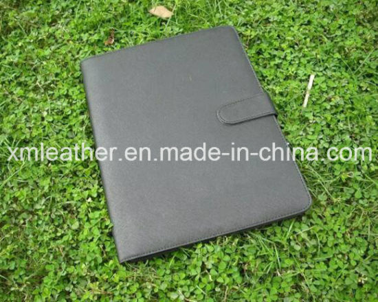 A4 Hard Cover Leather File Folder Document Folder for Business pictures & photos