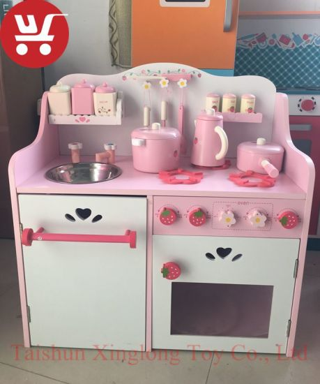 XL10228 High Quality Hot Sale Mini Play Cooking Kids Wooden Toy Kitchen Set  Kitchen Toy