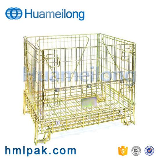 European Medium Duty Stackable Wine Storage Galvanized Wire Mesh Container