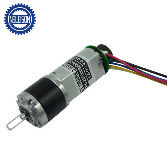 22mm 6V 12V 24V Planetary Geared DC Motor with Encoder for Shutters pictures & photos