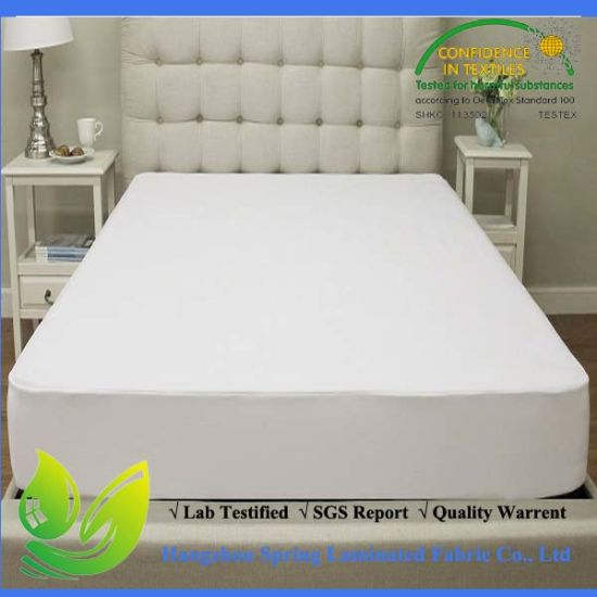 Cotton Queen Size Waterproof Bed Bug Knitted Fitted Sheet