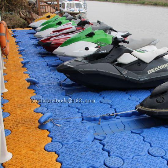 Modular Plastic Pontoon Floating Dock Used for Jet Ski