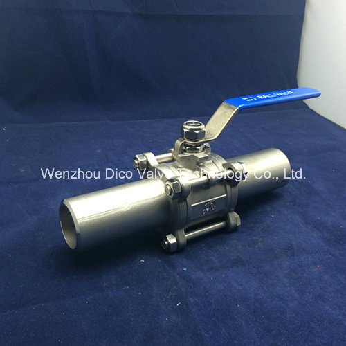 Ce 3PC Ball Valve with Extended Butt Welding pictures & photos