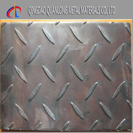 Q235 Ss400 Hot Rolled Ms Iron Checkered Plate pictures & photos