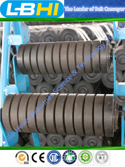 with Buffer Rubber Impact Roller for Belt Conveyor pictures & photos