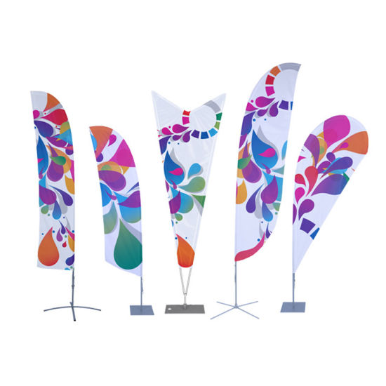 5m Outdoor Aluminum Beach Flag Feather Flag Flying Flag Banner pictures & photos