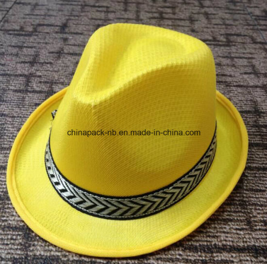 652acb145 China Promotional Oliver Straw Fedora Hats with Different Colors ...