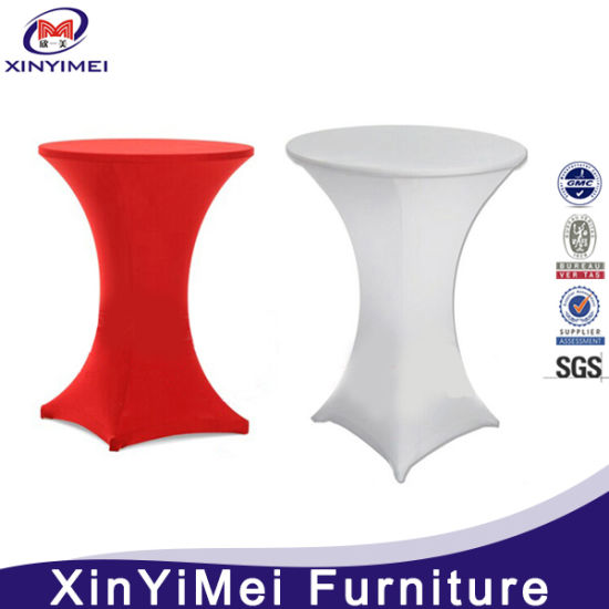 Colorful Spandex Cocktail Table Cover/Cloth for Sale pictures & photos