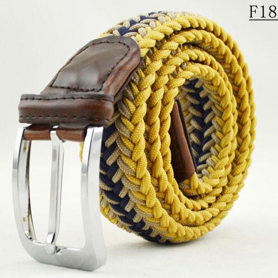F18 Personalized Khaki Braided Rope Woven Web Belt