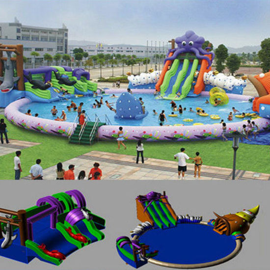 Giant Inflatable Waterpark for Sport