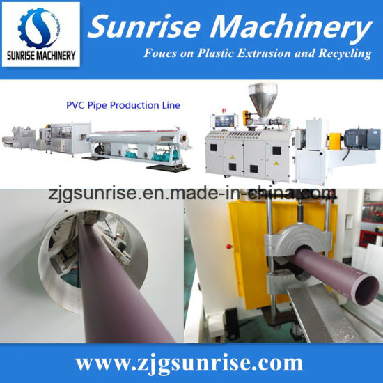 PVC PP PE PPR Pipe Production Line / Water Supply Pipe Drainage Pipe Conduit Pipe Extrusion Line / Plastic Pipe Making Machine