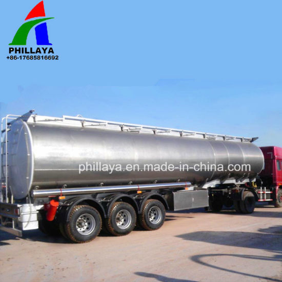 40 Cbm Alloy Metal Tank Semi Truck Aluminum Tanker Trailer pictures & photos