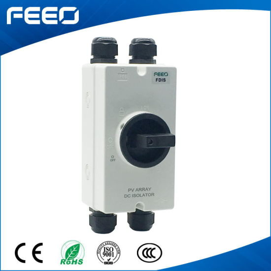 Electrical Battery 16A 600VDC DC Solar 3p Panel Isolating Switch pictures & photos