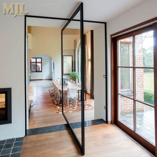 China Market Modern Design Aluminium Glass Entry Pivot Doors