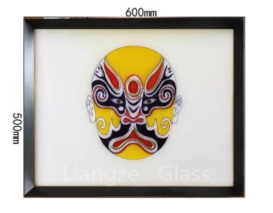 Handmade Souvenir on Tempered Glass of Cloisonne Picture