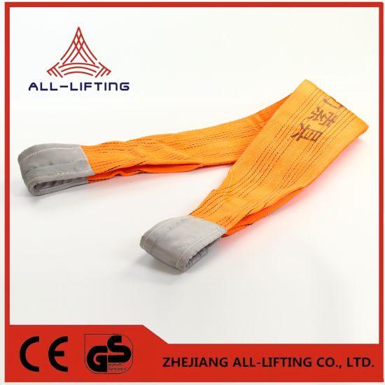 10t Double Flat Lifting Belt Eye to Eye Polyester Webbing Sling