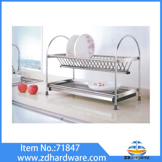 Stainless Steel Dish Holder Kitchen Worktop Baskets Factory pictures & photos