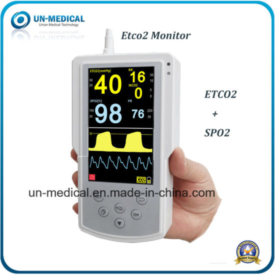 portable Handheld Veterinary Capnograph Monitor Etco2+SpO2 Monitor