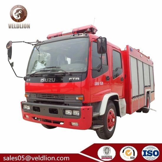 Isuzu 4X2 6m3 Water & 2m3 Foam, Water-Foam Fire Truck, Water and Foam Tanker Fire Fighting Truck