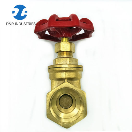 Low Price Wheel Handle Brass Control Gate Valve for Water Pipe (DR2003)