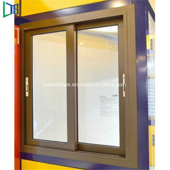 Eco Friendly Aluminium Horizontal Sliding Way Gl Window With Fly Screen
