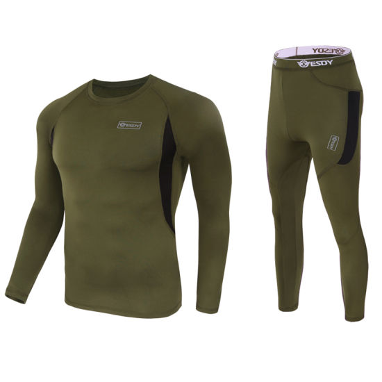 4-Colors Esdy Tactical Outdoor Sports Warm Thermal Underwear Set pictures & photos